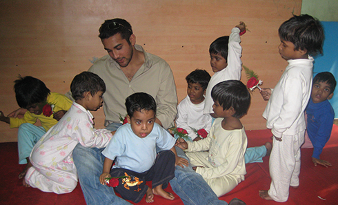 Chairman, President, and CEO of Illien Global Jayme Illien visiting an orphanage in Calcutta, India.
