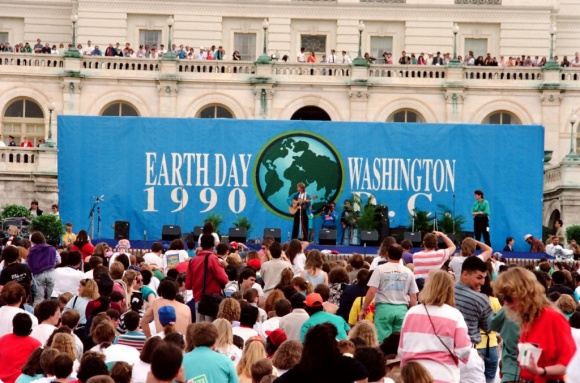 Earth Day celebrations in Washington DC, 1990. 200 Million people celebrated across 141 countries.