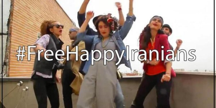 Happy Students from Iran make a music video inspired by Pharrell and the UN Foundation's campaign and are put in jail for dancing and being happy.